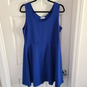 DoubleJu Sleeveless Blue Dress 3XL